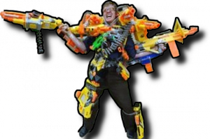 Nerf Wars - Crazy Guy
